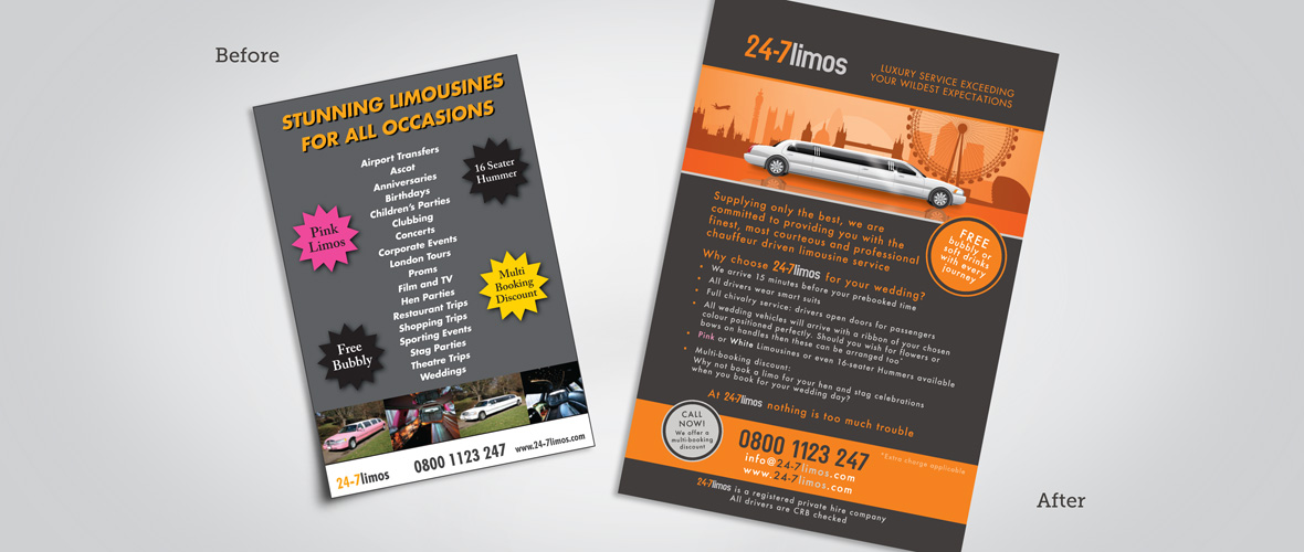 Limo Design Before & After
