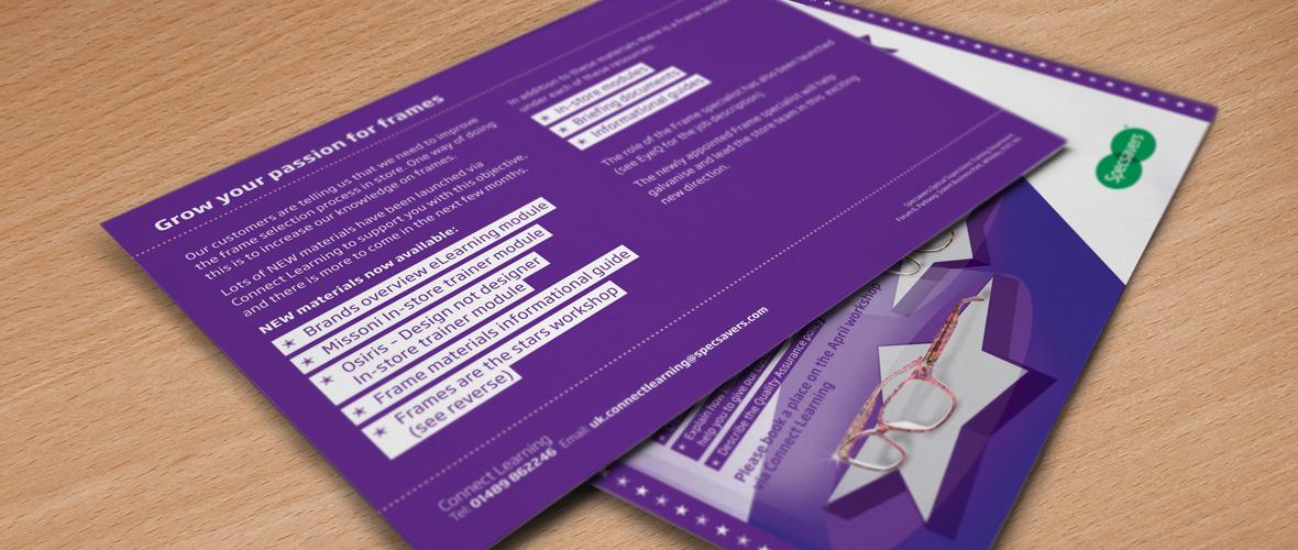 Specsavers Training Postcard Design