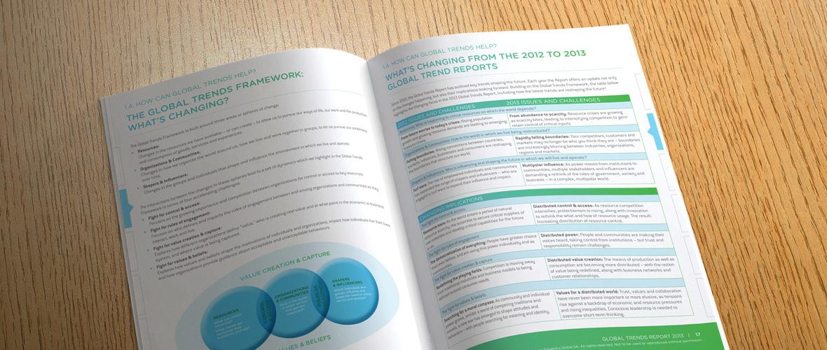 Global Trends Report Brochure Design