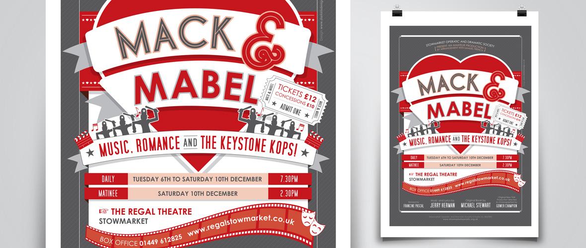Mack & Mabel poster design