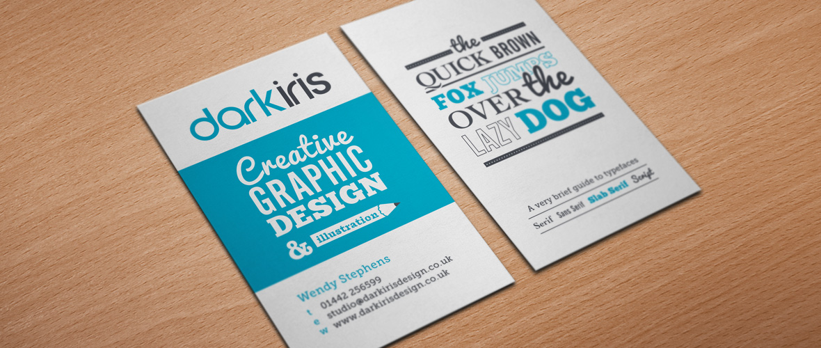 Dark iris graphic designer business card design for Freelance business cards