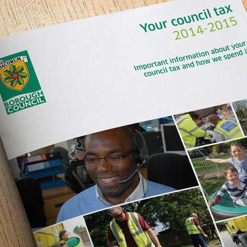 Council tax Annual report design