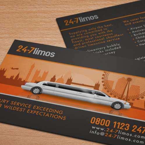 24 7 limos limo business card design before after colourmoves Images