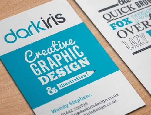 Dark Iris Graphic Designer Business Card Design