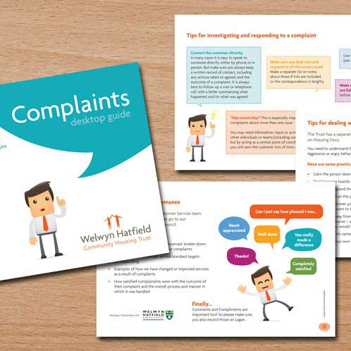 Complaints Booklet Design