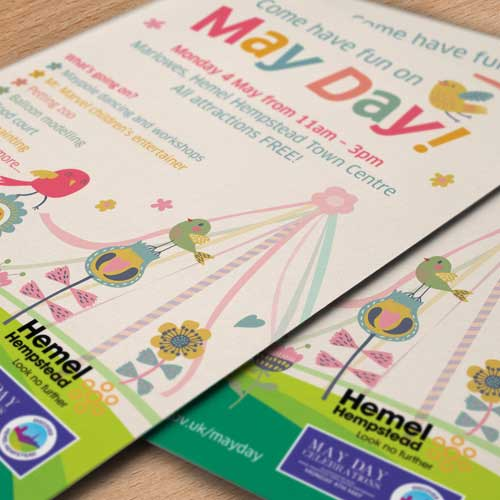 Dacorum 'May Day' Funday Poster Design
