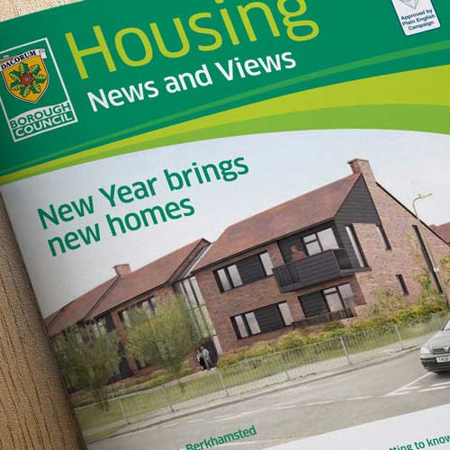 Dacorum 'News And Views' Council Newsletter Design