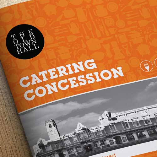 Dacorum 'Old Town Hall' Catering Brochure Design