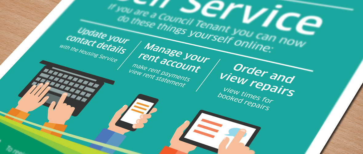 dacorum self service online poster design