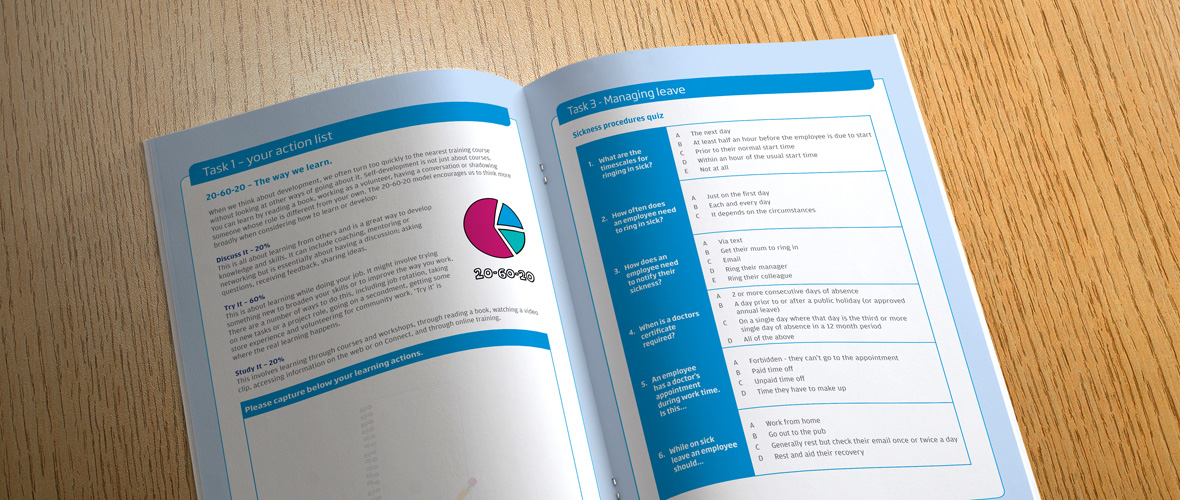 Specsavers Manager Induction Booklet Design