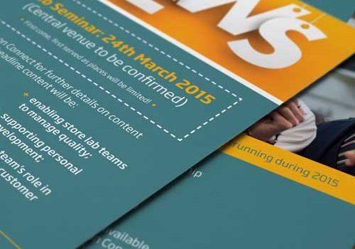 Specsavers Lab Seminar Leaflet Design